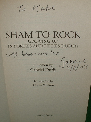 Image for SHAM TO ROCK Growing Up in Forties and Fifties Dublin a Memoir