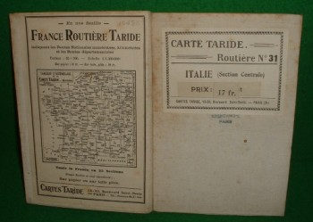 Image for ITALIE [ Section Central ] CARTE TARIDE ROUTIERE No 31 [ Linen Map ]