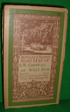 Image for ORDNANCE SURVEY ROAD MAP OF S.W.CORNWALL AND SCILLY ISLES SHEET 35 1/2 INCH TO 1 MILE