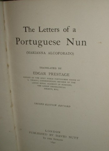Image for THE LETTERS OF A PORTUGUESE NUN (MARIANNA ALCOFORADO) Revised edition