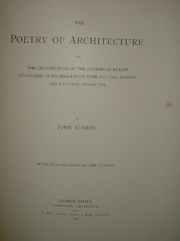 Image for THE POETRY OF ARCHITECTURE Or The ARCHITECTURE of the NATIONS of EUROPE CONSIDERED in its ASSOCIATION with NATURAL SCENERY and NATIONAL CHARACTER
