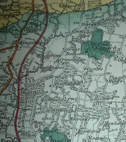 Image for NEW 1 INCH ORDNANCE SURVEY OF ENGLAND AND WALES SHEET 302 HORSHAM CRAWLEY