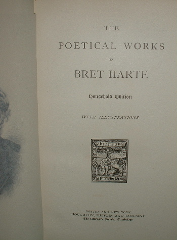 Image for The poetical works of Bret Harte Household Edition