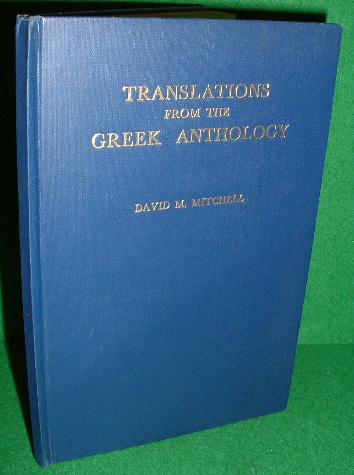 Image for TRANSLATIONS FROM THE GREEK ANTHOLOGY