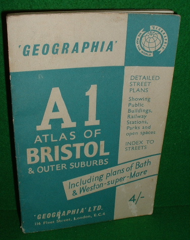 Image for A1 Atlas of Bristol & Outer Suburbs Geographia Street Atlas including Bath & Weston-Super-Mare