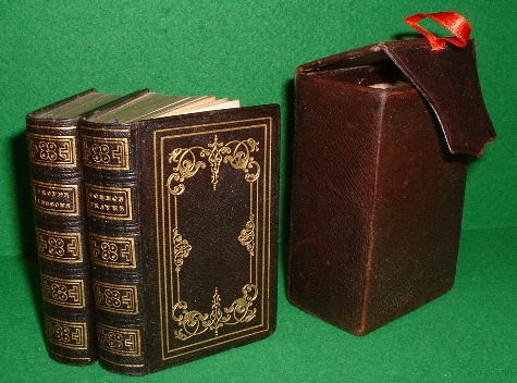 Image for THE BOOK OF COMMON PRAYER AND ADMINISTRATION OF THE SACRAMENTS, PSALTER OR PSALMS OF DAVID AND PROPER LESSONS TO BE READ AT MORNING AND EVENING PRAYER (TWO VOLS) IN FLAP TOP LEATHER CARRYING BOX