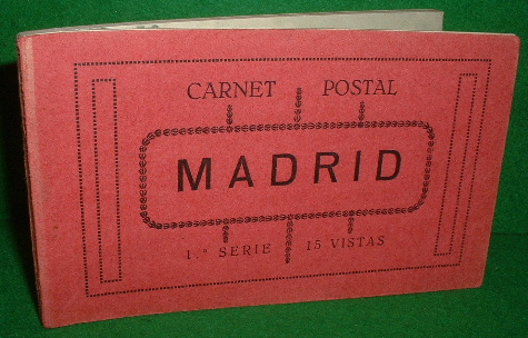 Image for MADRID POSTCARD BOOK , 15 Old Postcards with Tissue-Guard , Carnet Postal 15 Vistas , Tarjeta Postal