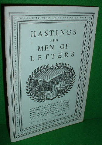 Image for HASTINGS AND MEN OF LETTERS