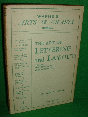 Image for THE ART OF LETTERING and LAY-OUT Including ILLUMINATING and Book Decoration , no 6