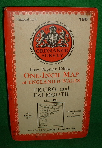 Image for NEW POPULAR EDITION ONE-INCH MAP OF ENGLAND AND WALES TRURO AND FALMOUTH SHEET 190