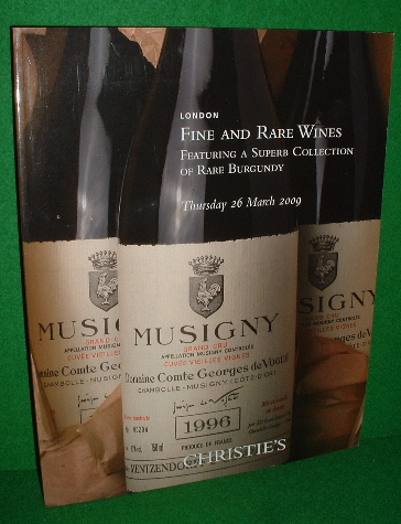 Image for CHRISTIE'S AUCTION CATALOGUE FINE AND RARE WINES Featuring a Superb Collection of Rare Burgundy