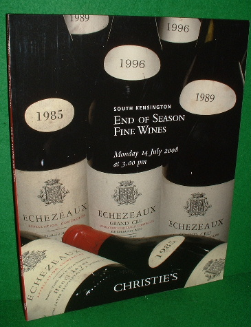 Image for CHRISTIE'S AUCTION CATALOGUE END OF SEASON FINE WINES