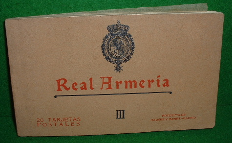 Image for ANTIGUA POSTALES OLd Postcards REAL ARMERIA 111 One Book of 20 Armoury Postcards with Tussue-Guard