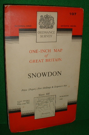 Image for ORDNANCE SURVEY ONE-INCH MAP OF GREAT BRITAIN SNOWDON SEVENTH SERIES