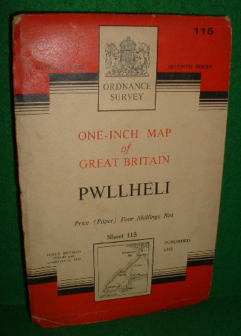 Image for ORDNANCE SURVEY ONE-INCH MAP OF GREAT BRITAIN PWLLHELI SHEET 115