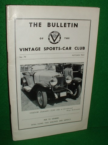 Image for THE BULLETIN OF THE VINTAGE SPORTS CAR CLUB No 79 Autumn 1963