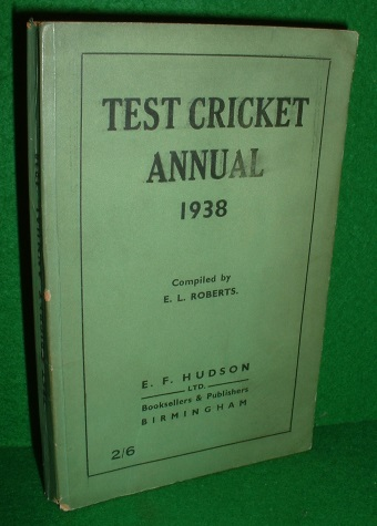Image for TEST CRICKET ANNUAL 1938