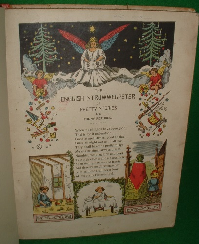 Image for The ENGLISH STRUWWELPETER or PRETTY STORIES and FUNNY PICTURES