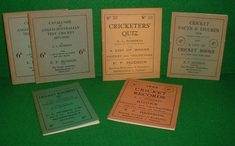 Image for CRICKET RECORD 1939,1940, CRICKET FACTS AND FIGURES 1936, CRICKETER'S QUIZ, CAVALCADE OF ANGO-AUSTRALIAN TEST CRICKET 1877-1938