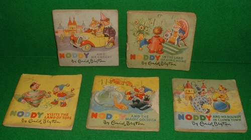 Image for THE NODDY CASTLE OF BOOKS (Five Titles - Noddy Visits the Land of Tops, Noddy and the Magic Goldfish, Noddy and Mr Roundy in Clown Town, Noddy and Mr Cheery, Noddy in the Land of King Ho-Ho