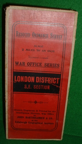 Image for REDUCED ORDNANCE SURVEY SCALE 2 MILES TO AN INCH WAR OFFICE SERIES LONDON DISTRICT S.E. SECTION