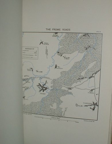 Image for MAP OF NEOLITHIC WESSEX SHOWING THE DISTRIBUTION OF LONG BARROWS,CIRCLES, HABITATION SITES, FLINT MINES. SCALE : FOUR MILES TO ONE INCH