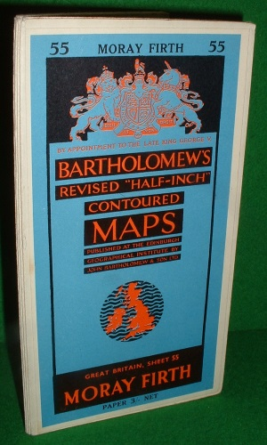 "Image for BARTHOLOMEW'S REVISED ""HALF INCH"" CONTOURED MAP MORAY FIRTH SHEET 55"