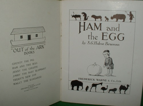 Image for HAM AND THE EGG Out of the Ark series