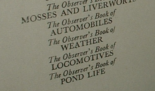 Image for THE OBSERVER'S BOOK OF POND LIFE