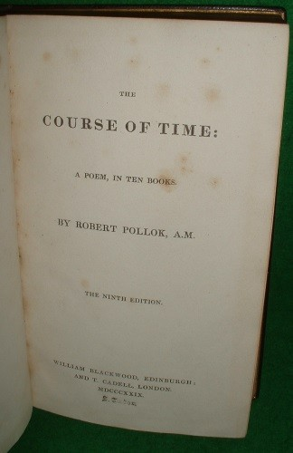 Image for THE COURSE OF TIME A POEM, IN TEN BOOKS