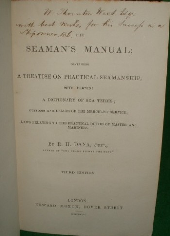 Image for THE SEAMAN'S MANUAL; CONTAINING A TREATISE ON PRACTICAL SEAMANSHIP
