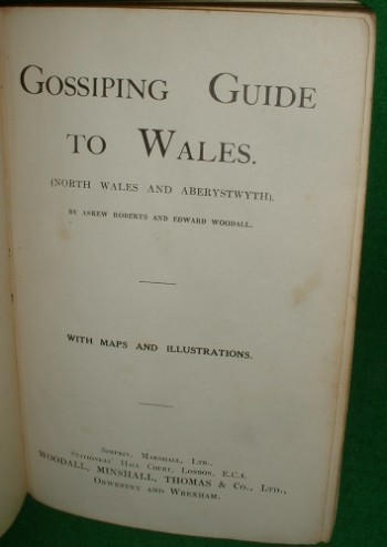 Image for GOSSIPING GUIDE to WALES [ North Wales and Aberystwyth ] with Maps and Illustrations