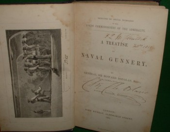 Image for A TREATISE ON NAVAL GUNNERY ( SIR FRANCIS LEOPOLD McCLINTOCK's PERSONAL COPY ) Revised 4th ed.