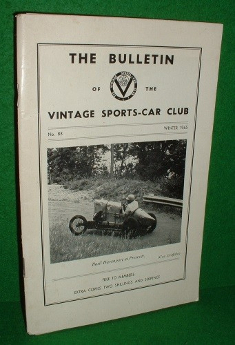 Image for THE BULLETIN of the  VINTAGE SPORTS CAR CLUB No 88 Winter1965