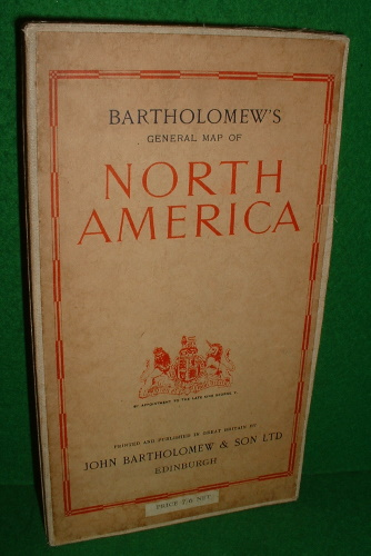 Image for BARTHOLOMEW'S GENERAL MAP OF NORTH AMERICA