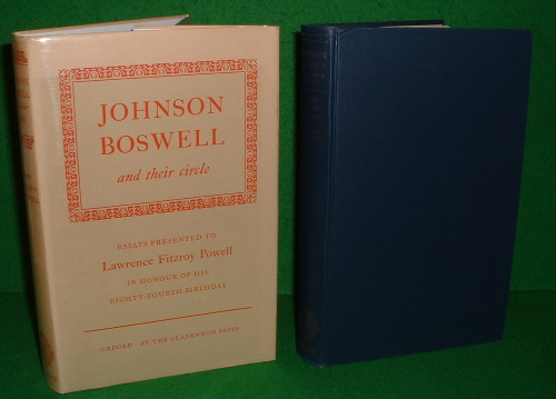 Image for JOHNSON BOSWELL AND THEIR CIRCLE Essays Presented to LAWRENCE FITZROY POWELL IN HONOUR OF HIS EIGHTY-FOURTH BIRTHDAY