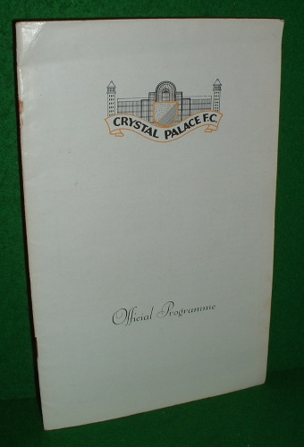 Image for CRYSTAL PALACE V HULL OFFICIAL FOOTBALL PROGRAMME 22 FEBRUARY 1969 [ Versus Hull ]