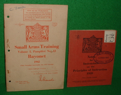Image for SMALL ARMS TRAINING-  BAYONET 1942 , Volume 1 , Pamphlet No 12 [ Includes 1937 Pamphlet which this Supersedes ]