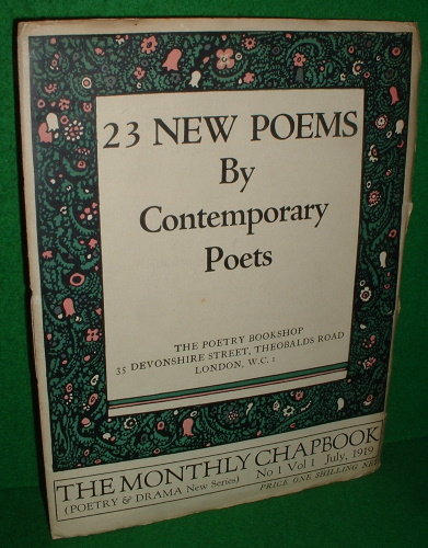 Image for 23 NEW POEMS BY CONTEMPORARY POETS , THE MONTHLY CHAPBOOK No 1 Vol 1 , 1919
