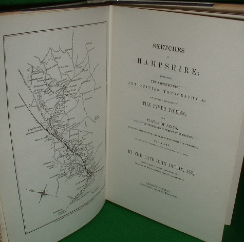 Image for SKETCHES OF HAMPSHIRE The Architectural Antiquities & Topography of the County adjacent to the River Itchen from Alresford to Southampton FACSIMILIE - 1839