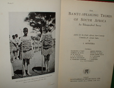 Image for THE BANTU-SPEAKING TRIBES OF SOUTH AFRICA  An Ethnographical Survey Edited for the South African Inter-Unoversity Committee for African Studies