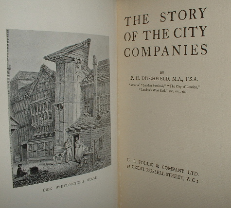 Image for THE STORY OF THE CITY COMPANIES