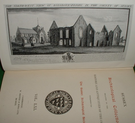 Image for SUSSEX ARCHAEOLOGICAL COLLECTIONS Relating to The HISTORY and ANTIQUITIES of the COUNTY Vol. LX1