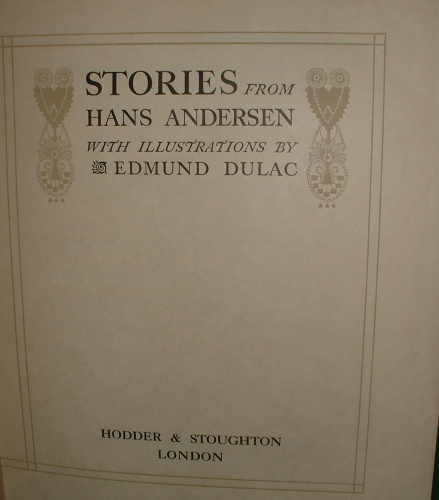 Image for STORIES FROM HANS ANDERSEN De Luxe Edition SIGNED COPY