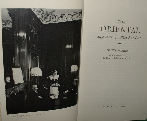Image for THE ORIENTAL Life Story of a West End Club Second Edition with Supplement